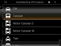 Předkonfigurované profily  obytných vozů