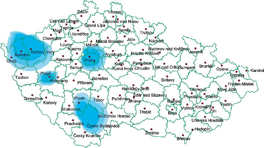 Mapa pokryti DAB rti cz