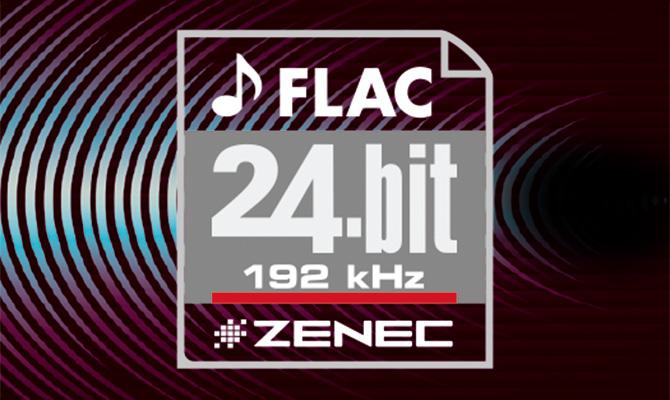 Podpora 24bitových  FLAC audio souborů